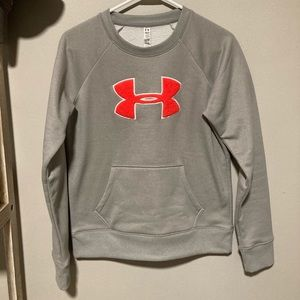 Grey and Coral Under Armour Sweatshirt